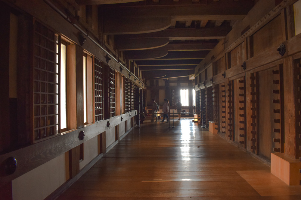 The inside of Himeji Castle in Japan