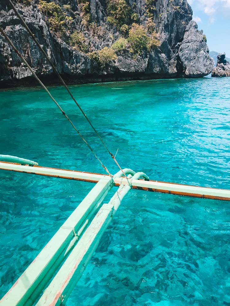 The incredibly turquoise water of El Nido