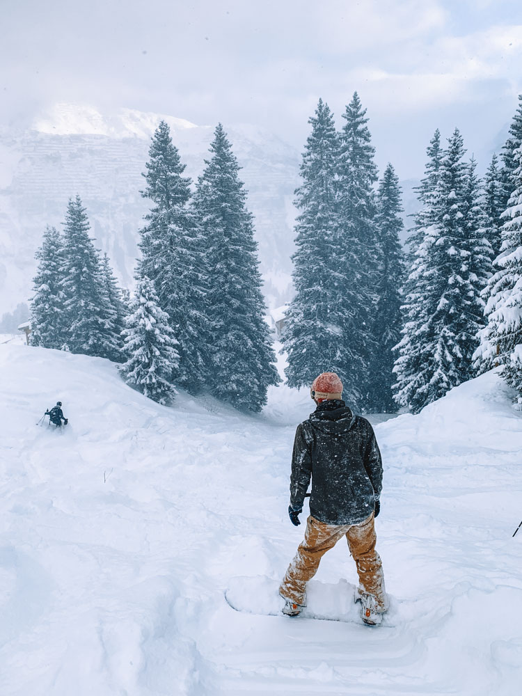 Skiing with limited visibility in Lech Zurs, but so much fresh snow!