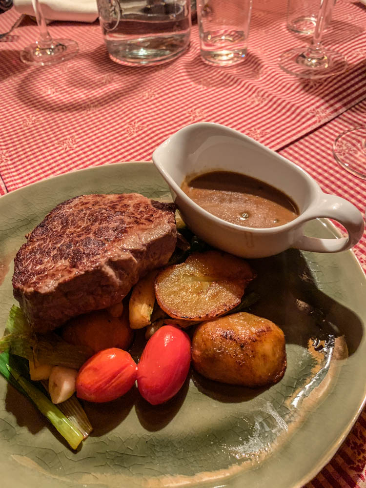 Steak at Hotel Ilga in Oberlech