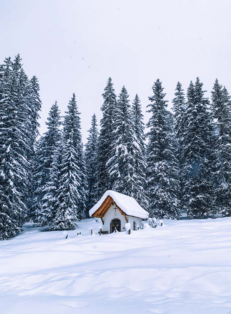 Beautiful snowy landscapes in Lech Zurs, Austria