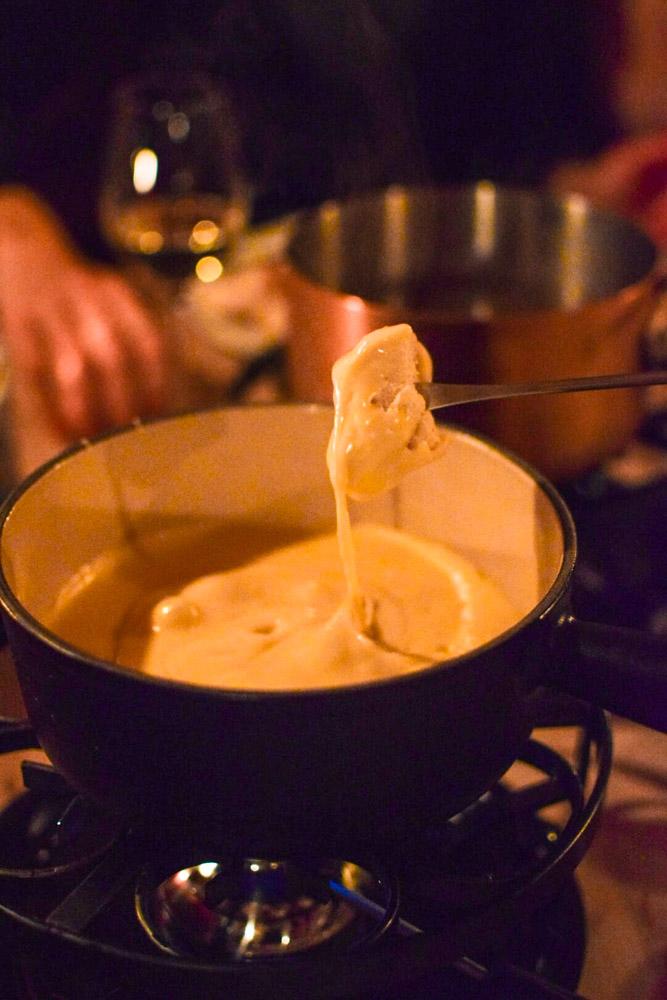 Cheese fondue at Gasthaus Alpele in Lech Zurs, Austria