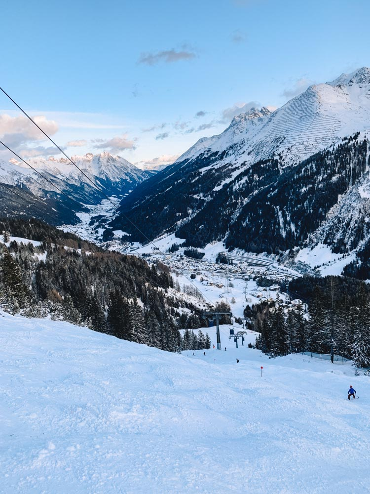 Loving the views from the slopes in St Anton!