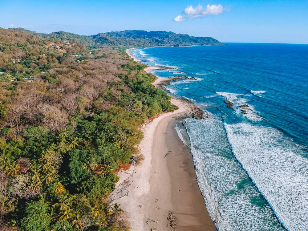 Drone shot of Santa Teresa beach