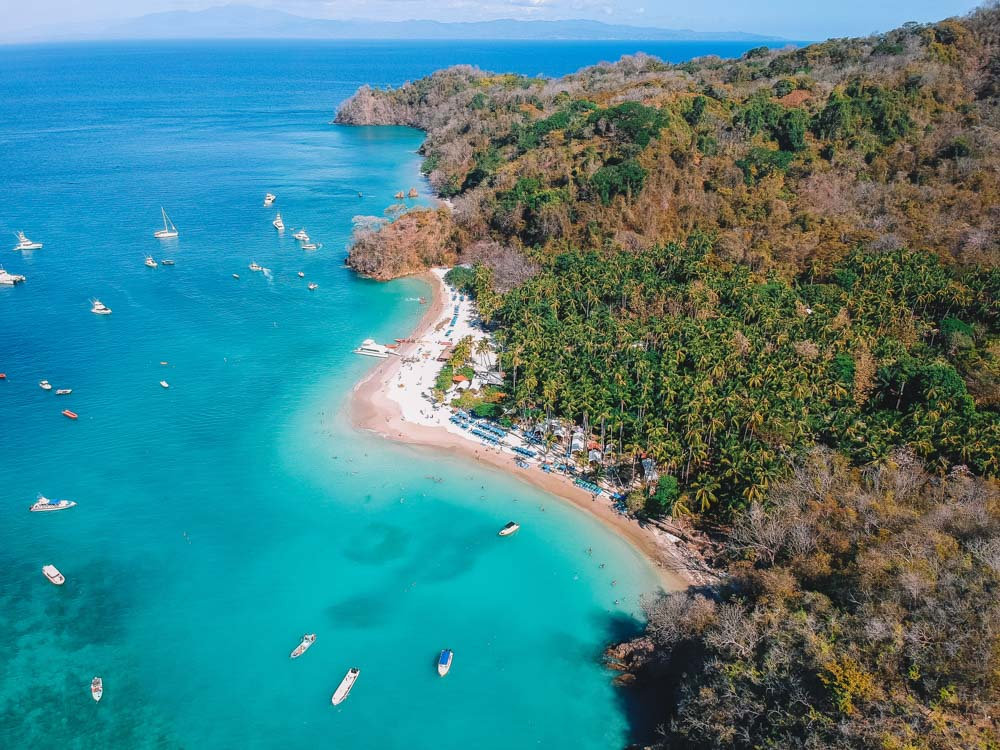 Isla Tortuga in Costa Rica seen from above