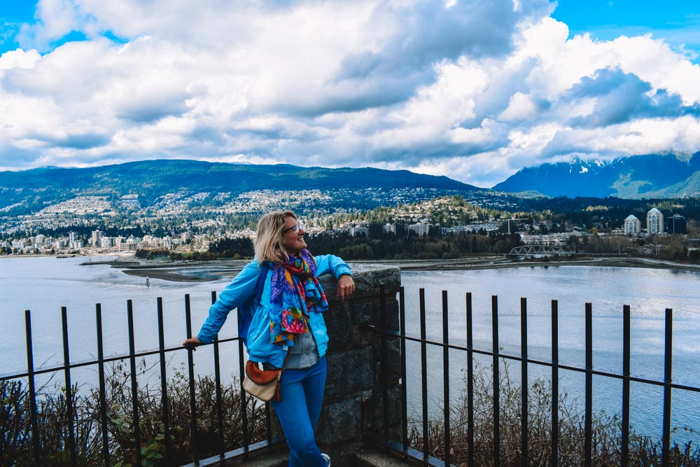 Enjoying the views from Stanley Park in Vancouver