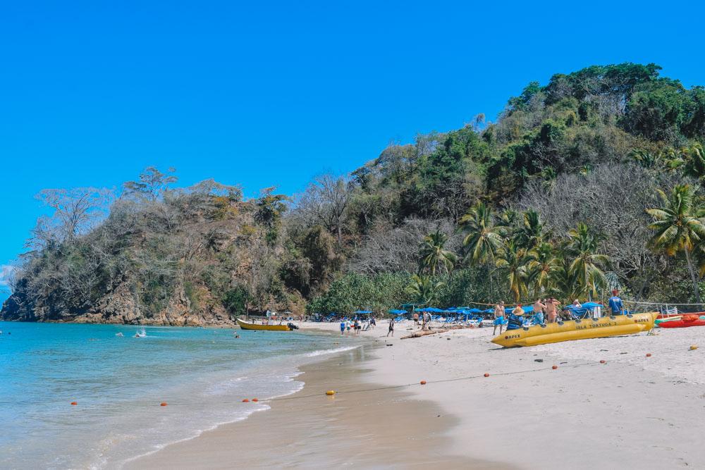 The main beach on Isla Tortuga