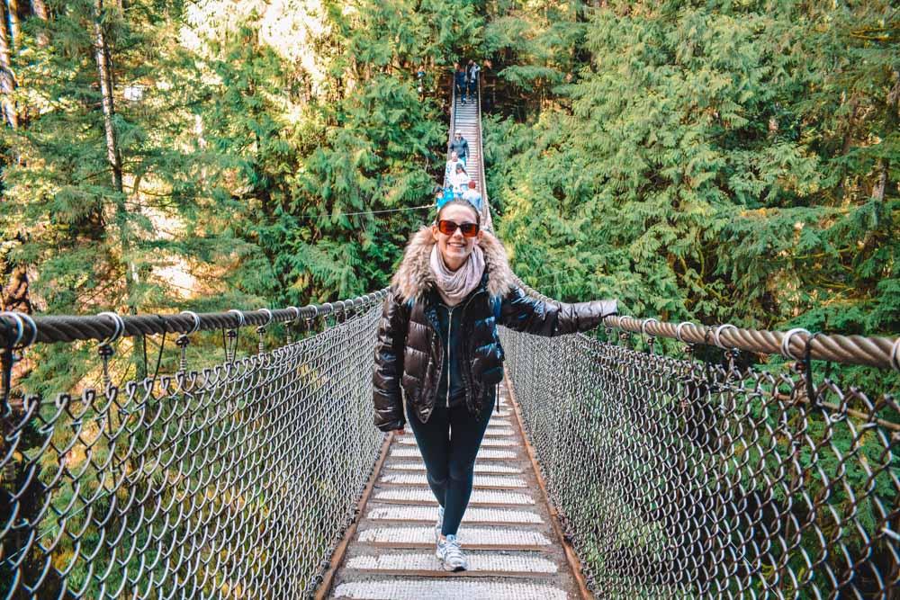 Exploring the suspension bridges in Vancouver