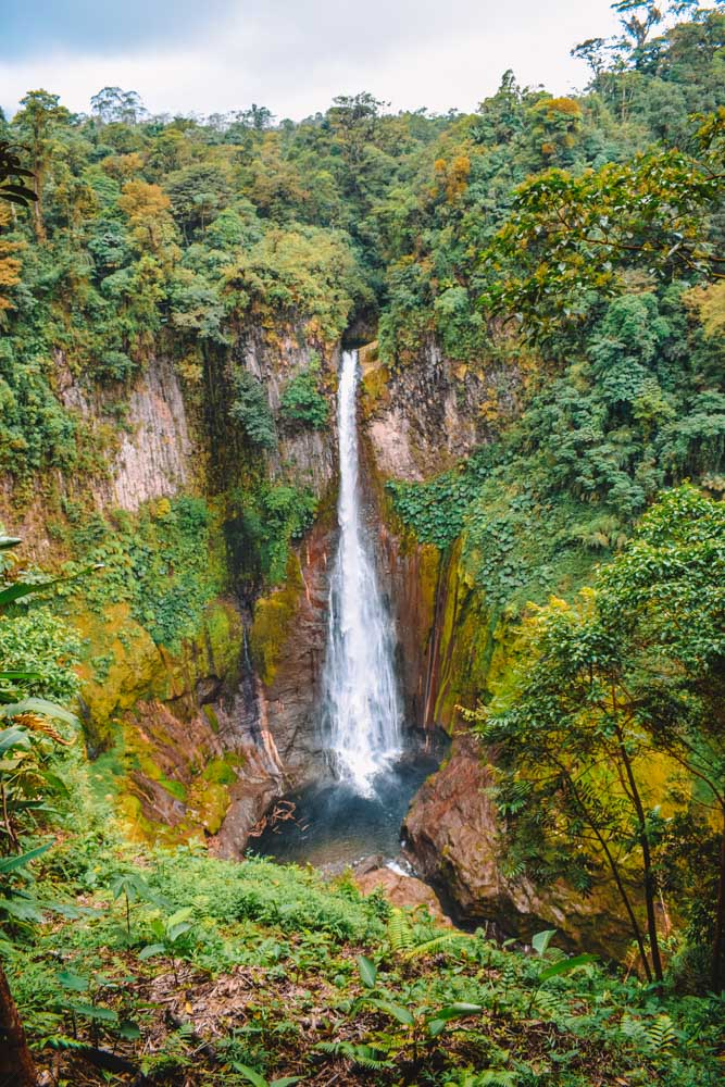 One of the viewpoints overlooking Catarata del Toro waterfall in Costa Rica