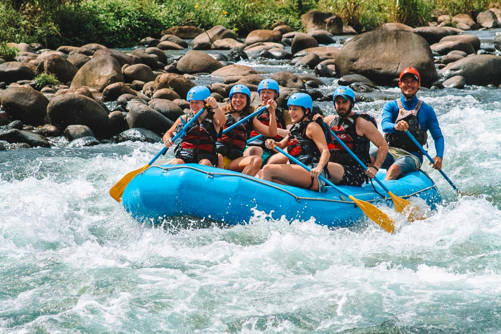 Rafting with my friends in the Sarapiqui River