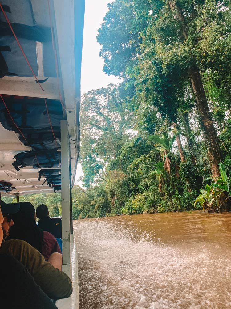 On the boat from La Pavona enroute to Tortuguero