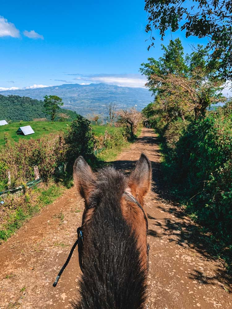 Horse riding in the valley of Orosi