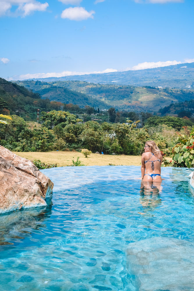 Relaxing in the hot thermal pools of Orosi