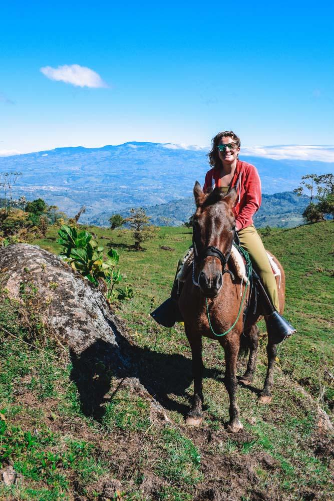 Horse riding in Orosi, Costa Rica