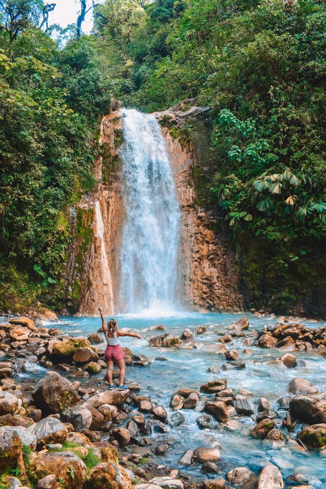 The first waterfall you will find when visiting the Blue Falls of Costa Rica