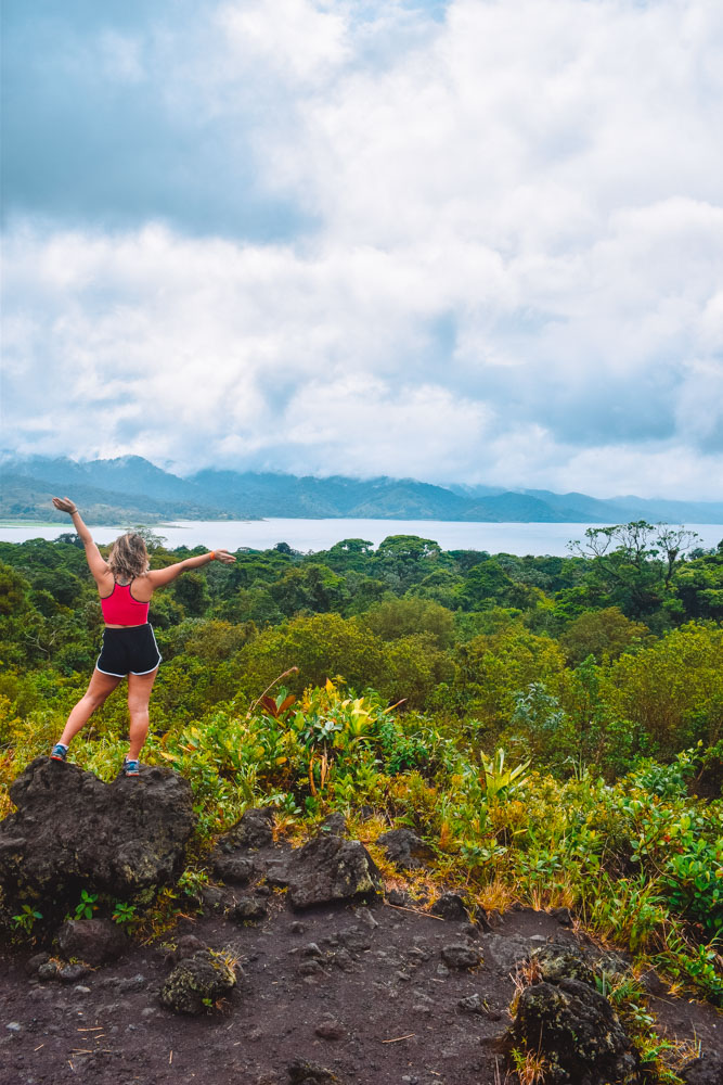 Hiking around the base of Arenal Volcano in Costa Rica
