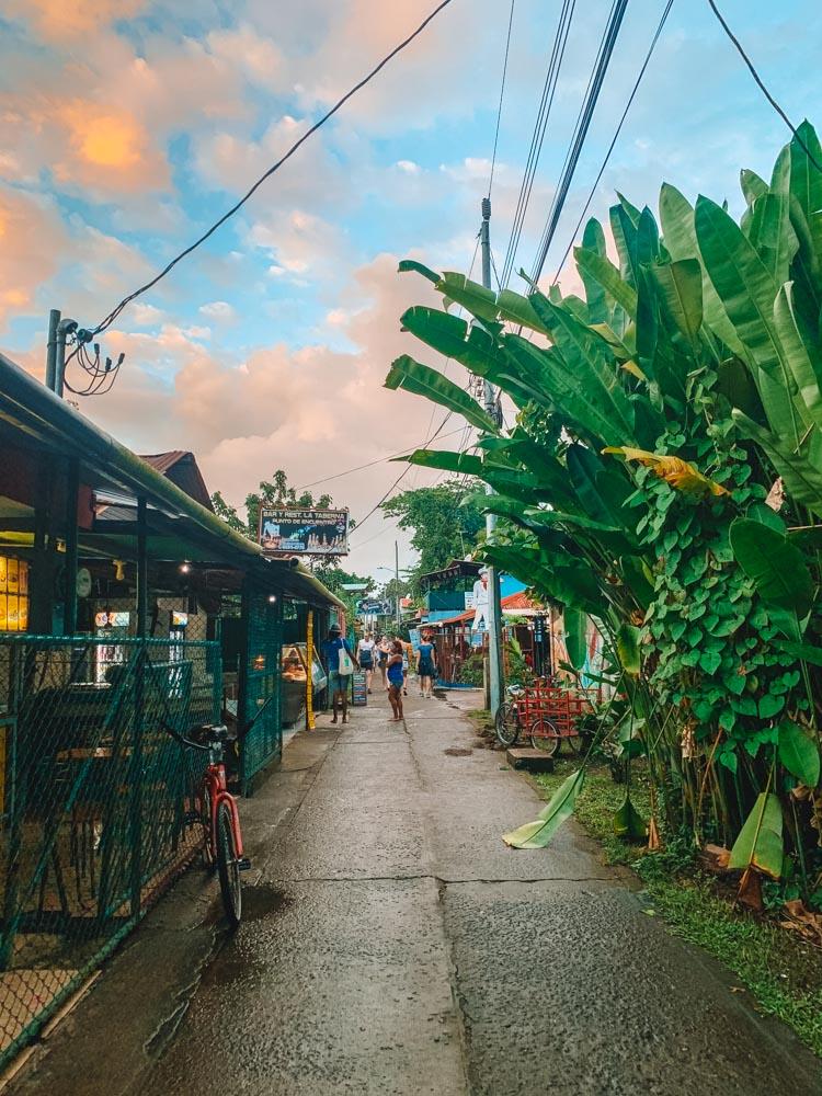 Wandering along the main street of Tortuguero
