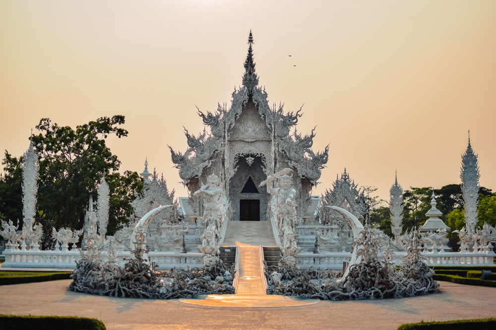 Wat Rong Khun, the famous White Temple in Chiang Rai
