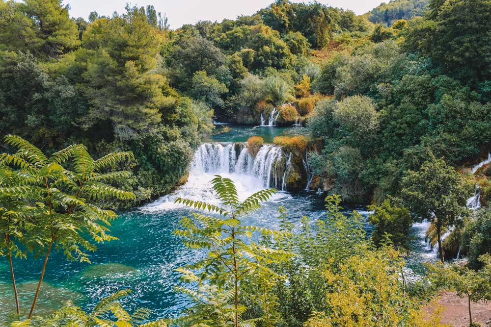 Some of the smaller waterfalls in Krka National Park