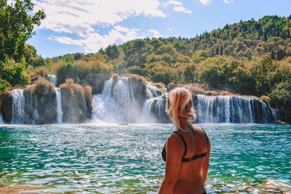 Admiring Skradinski Buk falls in Krka National Park