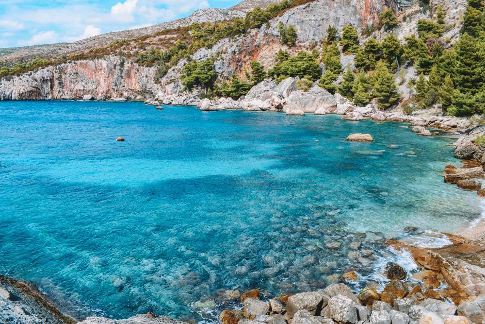 Malo Zarace Beach in Hvar Island