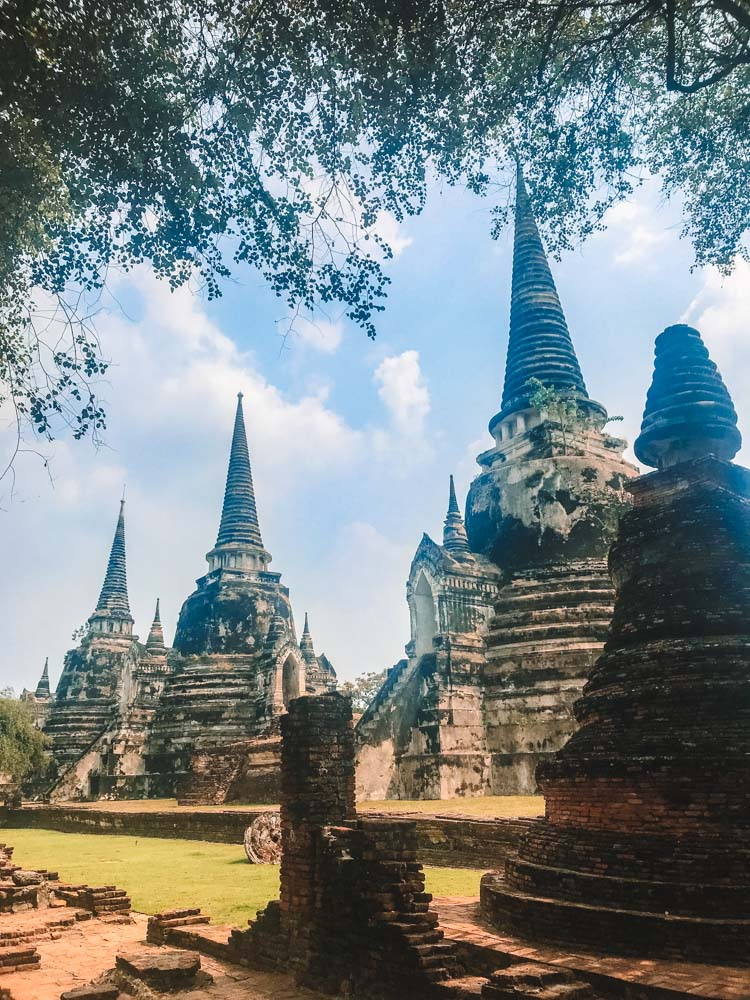 The three chedis of Wat Phra Si Sanphet in Ayutthaya