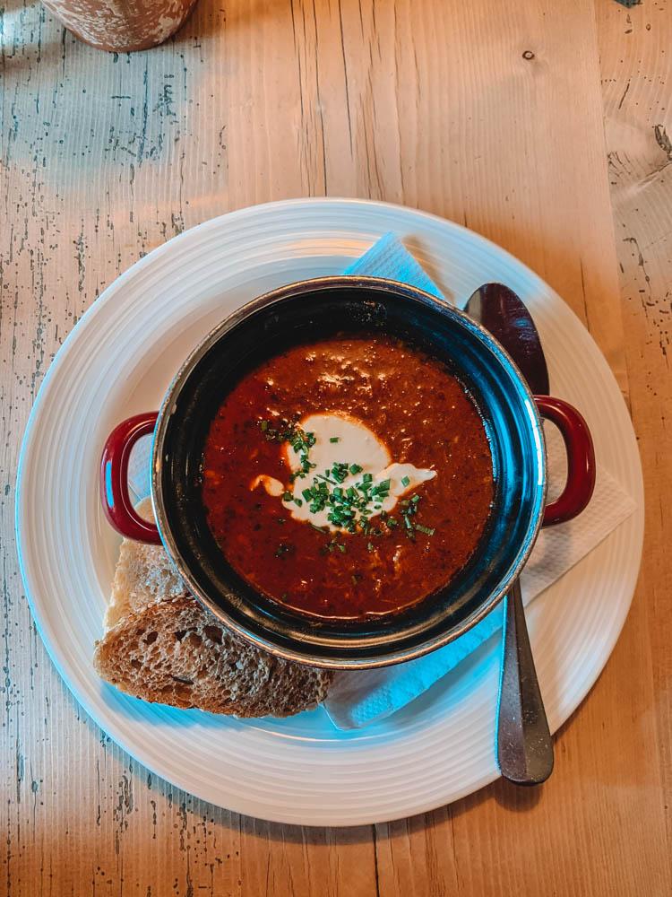 Tasty goulash soup