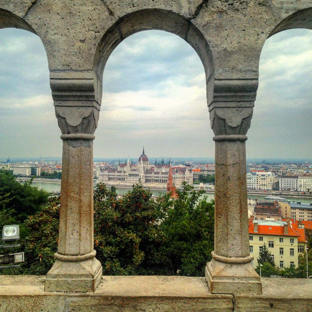 View of the Hungarian Parliament from Fisherman's Bastion in Budapest