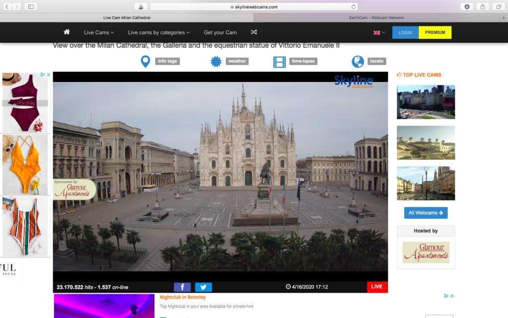 A live webcam of Piazza del Duomo in Milan, my hometown