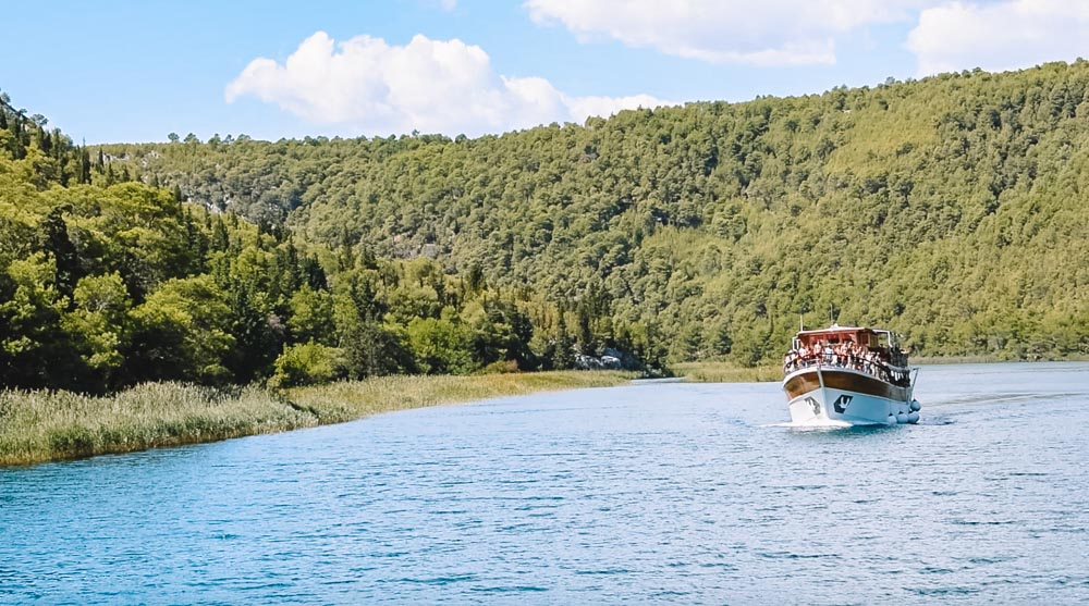 One of the ferries in Krka National Park