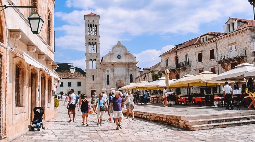 St Stephen's Square in Hvar, Croatia
