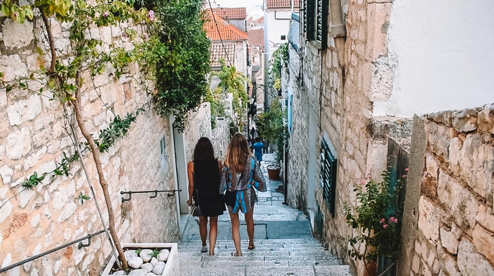 Wandering around the cute streets of Hvar