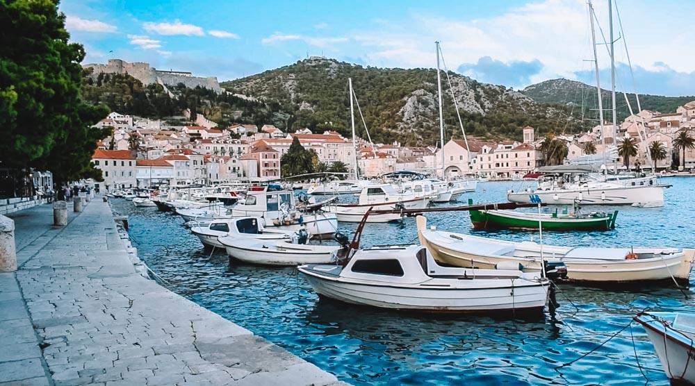 The harbour of Hvar