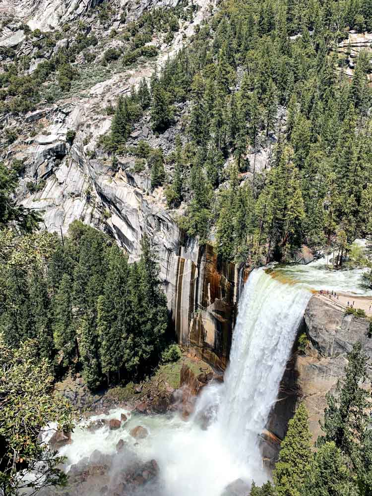 Vernal Falls in Yosemite from above, photo by Bartender Abroad