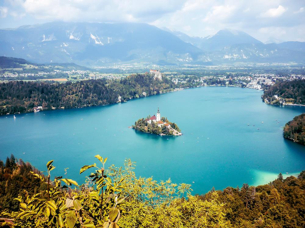 Aerial view of Lake Bled in Slovenia - Photo by Alexis Borderon on Scopio