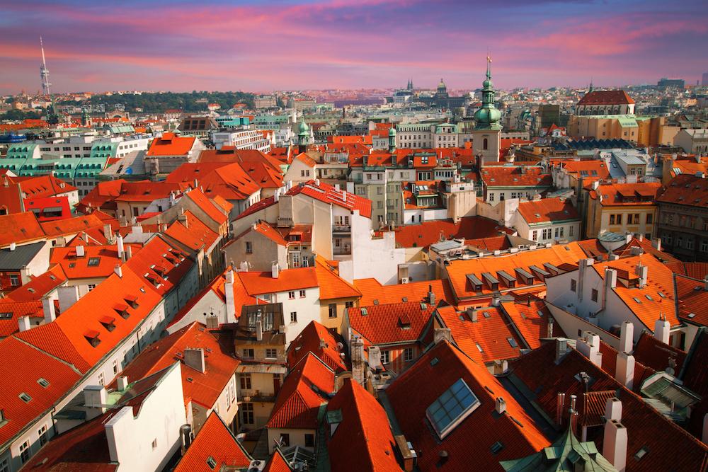 The red rooftops of Prague - Photo by Aliaksei Skreidzeleu on Scopio