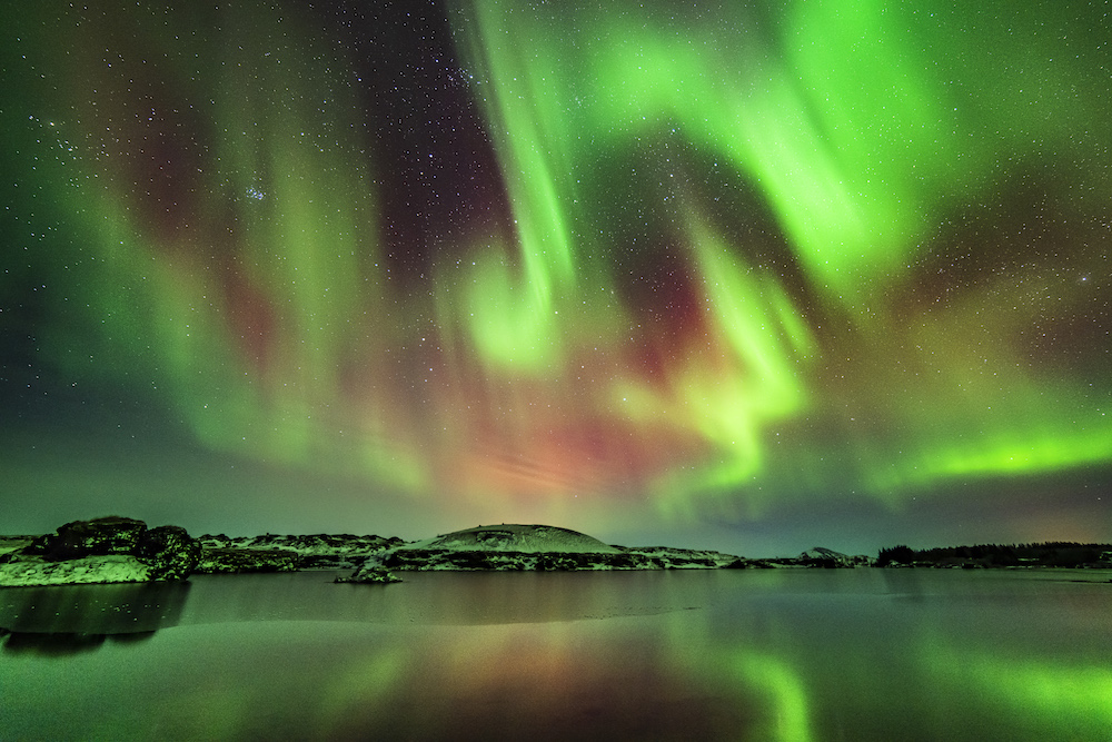 Admiring the Northern Lights - photo by Photo by Oren Cohen on Scopio