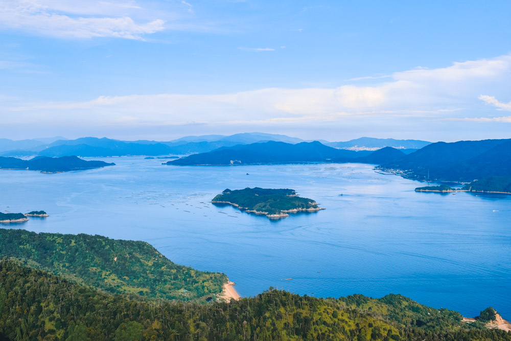 The view from the top of Mount Misen on Miyajima