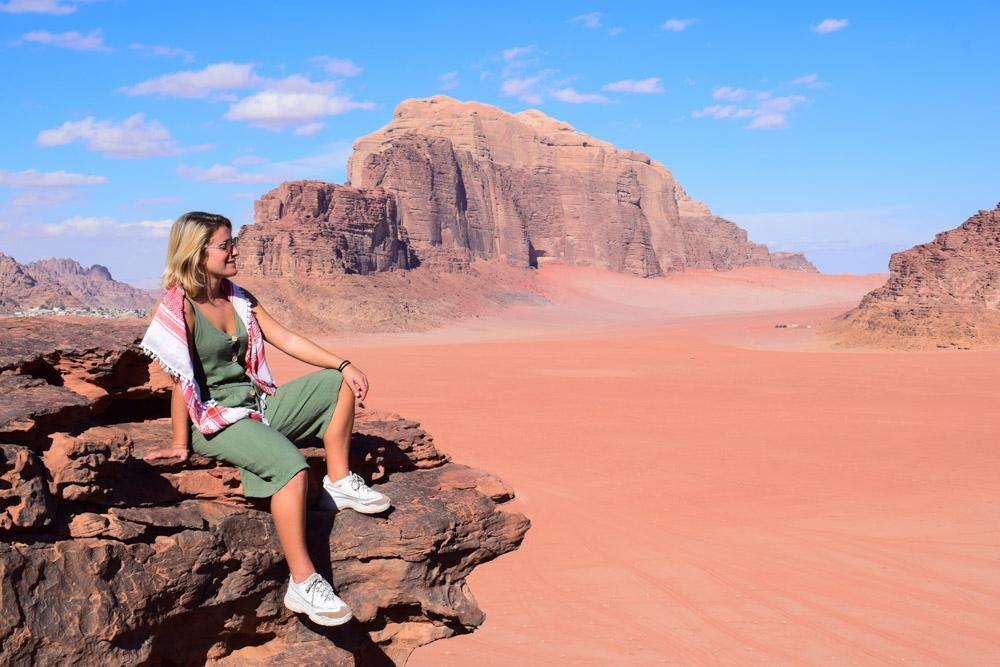 Enjoying the Wadi Rum desert views