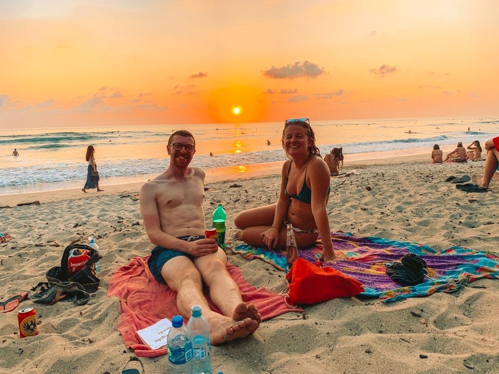 Me and my friend Jordan enjoying some sunset drinks in Santa Teresa