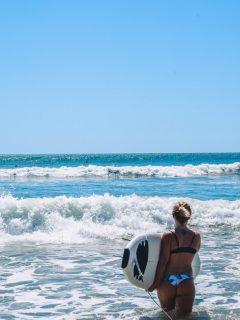 Surfing in Santa Teresa, Costa Rica