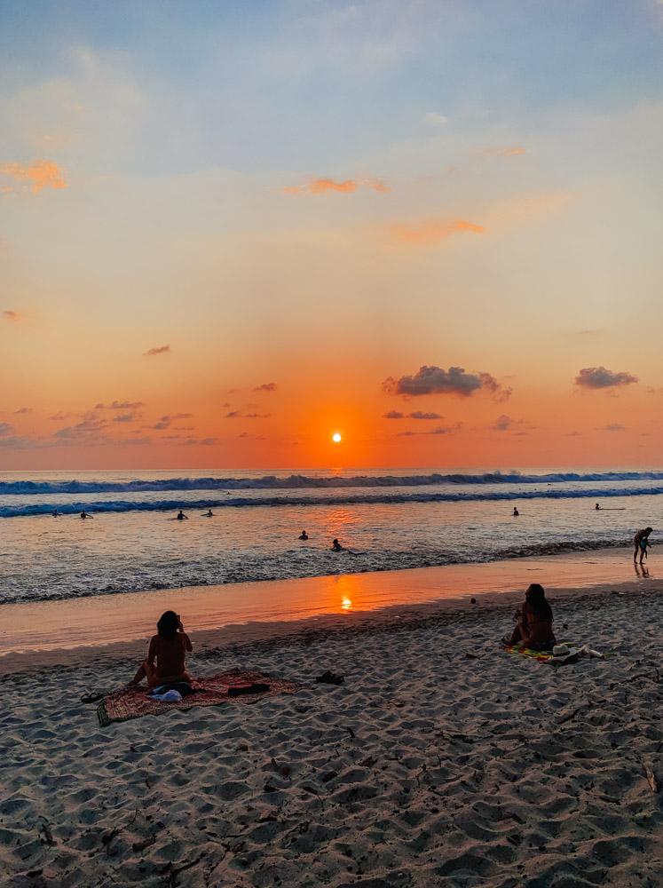 The sunset from Banana Beach