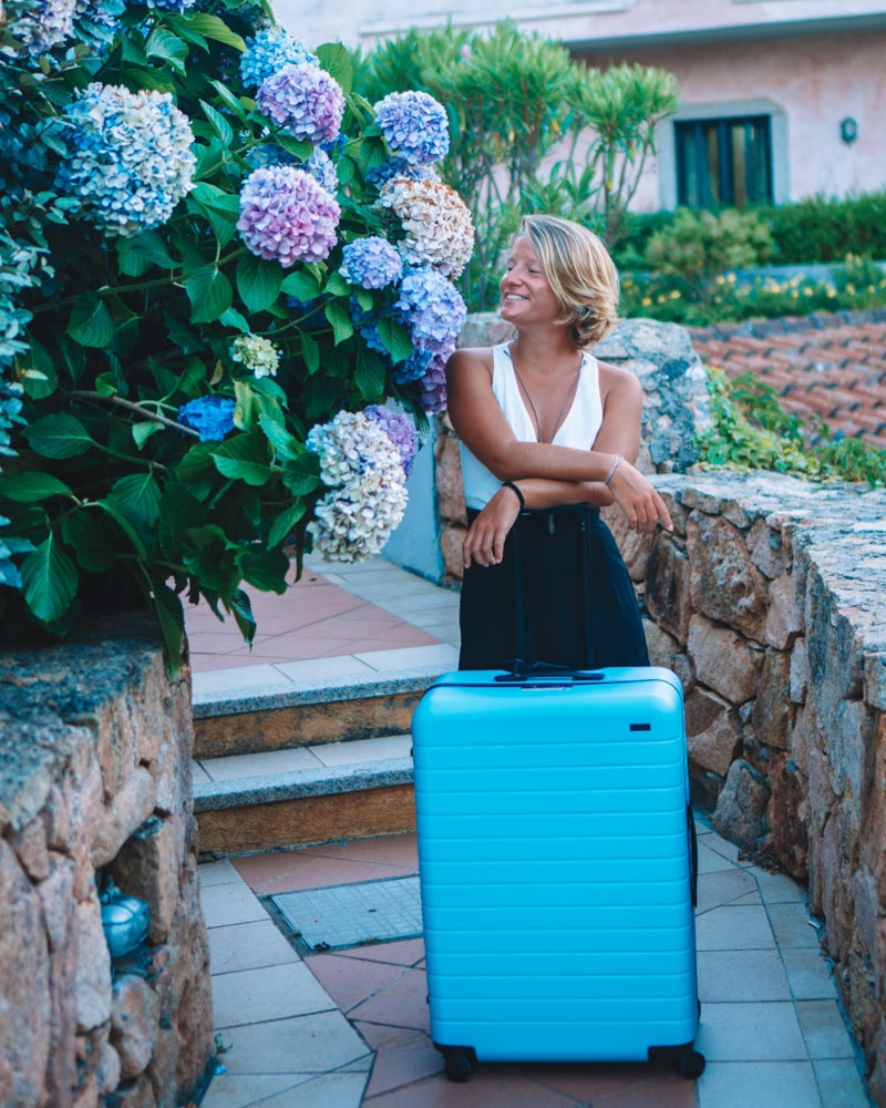 With my big Away suitcase