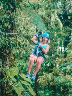 Loving the thrill of my canopy and zipline tour in Costa Rica