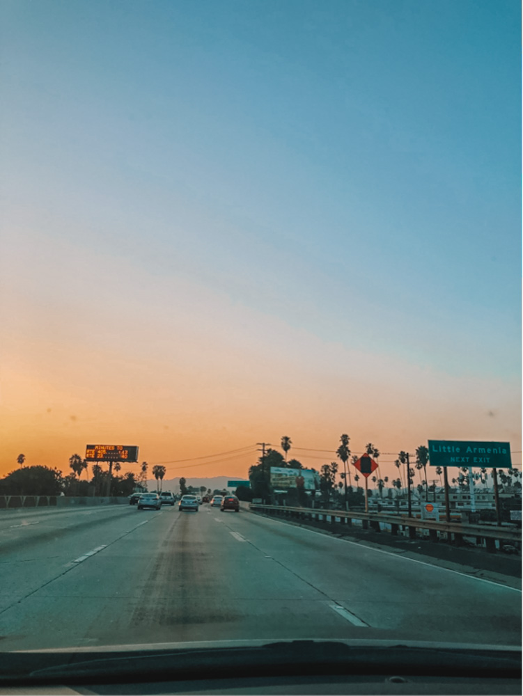 Driving in Los Angeles
