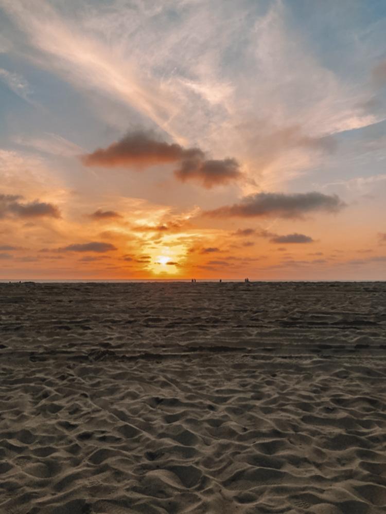 Beautiful beach sunsets in LA