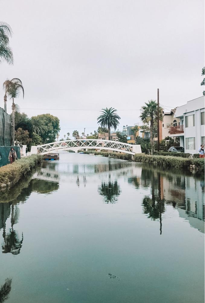 The canals of Venice Beach in LA