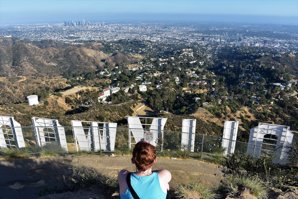 View over Los Angeles from the Hollywood sign - Photo by Sarah Czajkowski on Scopio