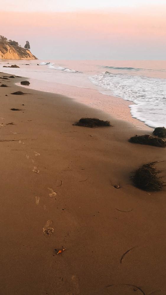 Sunset in Arroyo Beach - photo by Passports and Preemies