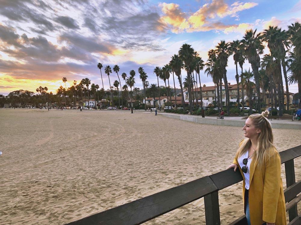 Sunset in Santa Barbara - photo by Passports and Preemies